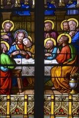 Grand'Eglise ou Eglise Saint-Etienne - Détail de l'un des vitraux de l'église Saint Laurent et Saint-Etienne dite