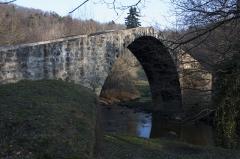 Pont du Diable à Vérine - English:  Devil's Bridge, of the 12th century, rebuilt in 1395 (for upstream).