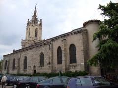 Eglise paroissiale Notre-Dame - English: Feurs_(Loire,_Fr)_church, side view