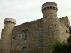 Château - Français:   Après l\'allée de platanes , vue de l\'entrée principale