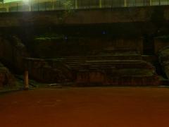 Amphithéâtre fédéral romain des Trois Gaules - Italiano: Resti dell'anfiteatro delle Tre Gallie a Lione (F-69001). Vista notturna.