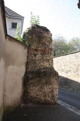 Aqueduc gallo-romain du Gier dit aussi du Mont-Pilat (également sur communes de Brignais, Chaponost, Sainte-Foy-lès-Lyon, Mornant, Soucieu-en-Jarrest) - Français:   Piles de l\'Aqueduc du Gier - Rue Roger Radisson.
