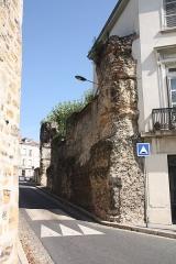 Aqueduc gallo-romain du Gier dit aussi du Mont-Pilat (également sur communes de Brignais, Chaponost, Sainte-Foy-lès-Lyon, Mornant, Soucieu-en-Jarrest) - Français:   Piles de l\'Aqueduc du Gier - Rue Rger Radisson.