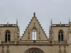 Cathédrale Saint-Jean - Pignon de la primatiale Saint-Jean à Lyon.