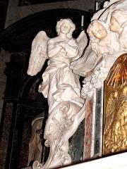 Ancien Collège de la Trinité, actuellement lycée Ampère - Français:   Chapelle de la Trinité à Lyon (69002). Intérieur. Détail des décors. Travaux de marbrerie.