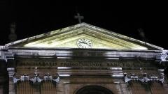 Eglise Saint-Just - Français:   Fronton de l\'église Saint-Just de Lyon (rue des Farges, F-69005). L'église de Saint-Just est l'héritière de celle qui a été rasée par les troupes du François de Beaumont, baron des Adrets en 1562, elle est porteuse de confusion par son déménagement et par la dédicace aux sept frères macchabées qui orne son fronton: \