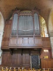 Eglise Saint-Martin-d'Ainay - L'orgue de la basilique, situé au nord de la coupole.