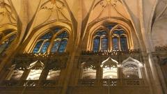 Eglise Saint-Nizier - English: Rib vaults and windows of the nave of the curch Saint-Nizier. Address: 46, rue Président Edouard Herriot, Lyon (F-69002).