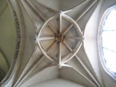 Eglise Saint-Paul - Voute du transept sud de l'église saint-Paul de Lyon. Clefs de voutes pendantes et clef de voute blasonnée.