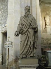 Eglise Saint-Paul - Statue de Saint-Pierre dans le transept nord dans l'église saint-Paul de Lyon.