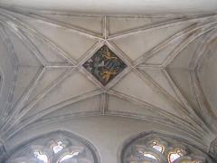 Eglise Saint-Paul - Clef de voute de la chapelle des fonts baptismaux de l'église Saint-Paul de Lyon, aux armes de Jean Palmier.