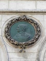Hôtel de ville - Français:   Hôtel-de-Ville de Lyon (69001). Médaillon. Anne d\'Autriche.