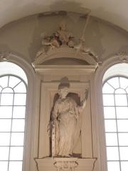 Palais Saint-Pierre ou ancienne abbaye des Dames de Saint-Pierre - Français:   Sainte-Catherine d\'Alexandrie. Sculpture du réfectoire du Palais Saint-Pierre de Lyon (69).