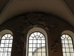 Palais Saint-Pierre ou ancienne abbaye des Dames de Saint-Pierre - Français:   Anges sculptés du réfectoire du Palais Saint-Pierre de Lyon (69).