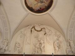 Palais Saint-Pierre ou ancienne abbaye des Dames de Saint-Pierre - Saint-Pierre reniant le Christ, Baptême du Christ, Naissance du Christ. Sculptures du réfectoire du Palais Saint-Pierre de Lyon (69).