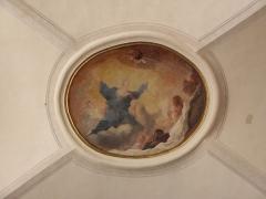 Palais Saint-Pierre ou ancienne abbaye des Dames de Saint-Pierre - Louis Cretey. L'Assomption. Peinture ornant le médaillon occidental des voûtes du réfectoire du Palais Saint-Pierre de Lyon (69).