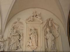 Palais Saint-Pierre ou ancienne abbaye des Dames de Saint-Pierre - Français:   Saint-Antoine ermite, Sainte-Marguerite, Saint-Ennemond. Sculptures du réfectoire du Palais Saint-Pierre de Lyon (69).