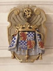 Palais Saint-Pierre ou ancienne abbaye des Dames de Saint-Pierre - Français:   Armes d\'Anne et Antoinette de Chaulnes dans la partie occidentale des voûtes du réfectoire du Palais Saint-Pierre de Lyon (69).