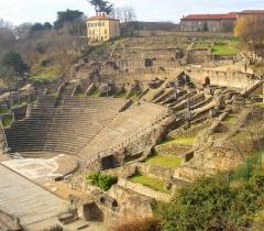 Site archéologique de Fourvière - Français:   Théâtre antique de Fourvière. d\'apres wiki allemande. domaine public