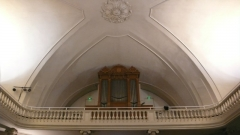 Ancienne Loge du Change, ancien Temple protestant - English: Pipe organ of the
