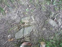 Voie romaine - Vestiges de voie romaine à Mardore, dans le département du Rhône
