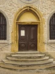 Chapelle Saint-Fortunat -  porte de la chapelle de St-Fortunat, St-Didier-au-Mont-d'Or, Rhône, France