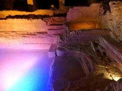 Thermes nationaux - English: Sight of the remnants of the Roman baths of Aix-les-Bains, in Savoie, France.