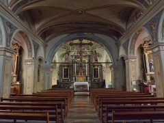 Eglise - English: Sight of the altar and interior of the église Notre-Dame-de-l'Assomption church, in Aussois, Savoie, France.