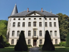 Centre hospitalier specialisé - English: Sight of the château de Bressieux château, at the foot of Les Monts hill, in Bassens near Chambéry, in Savoie, France.