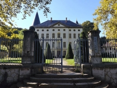 Centre hospitalier specialisé - English: Sight of the château de Bressieux castle and its gate, in Bassens near Chambéry in Savoie, France.