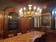 Centre hospitalier specialisé - English: Sight of the ancient Council room of the historical psychiatric hospital, in Bassens near Chambéry, Savoie, France.
