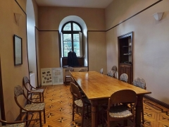 Centre hospitalier specialisé - English: Sight of the former apothecary (pharmacy) room of the historical psychiatric hospital, in Bassens near Chambéry, Savoie, France.
