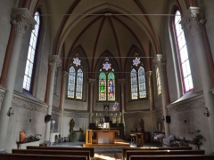 Centre hospitalier specialisé - English: Inside sight of the chapel situated in the bâtiment central (central building) of the historical psychiatric hospital, in Bassens near Chambéry, Savoie, France.