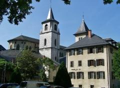 Archevêché - English: Sight of cathédrale Saint-François de Sales cathedral and Musée Savoisien museum, in Chambéry, Savoie, France.
