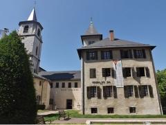 Archevêché - English: Sight of the Musée Savoisien museum and the Saint-François de Sales cathedral bell tower, in Chambéry, Savoie, France.