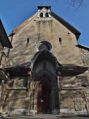 Eglise de Lemenc - English: Sight of the Saint-Pierre-de-Lemenc church front, in Chambéry, in Savoie, France.