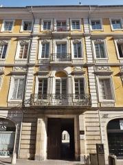 Hôtel des Marches - English: Sight of the Hôtel des Marches building, in Chambéry, Savoie, France.