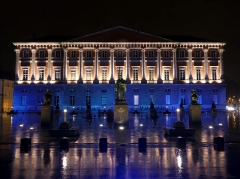 Palais de Justice - English: Sight, in the late evening of a very rainy day, of Chambéry courthouse, in Savoie, France.