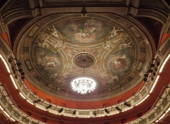 Théâtre municipal - English: Sight of the ceiling of the théâtre Charles Dullin theater of Chambéry, in Savoie, France.