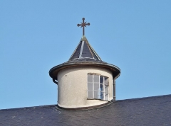Eglise - English: Sight of the small tower on the roof of the église Saint-Jean-Baptiste church of La Motte-Servolex, near Chambéry in Savoie, France.