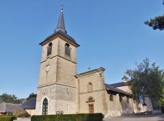 Eglise - English: Sight of the southern side of the église Saint-Jean-Baptiste church of La Motte-Servolex, near Chambéry in Savoie, France.