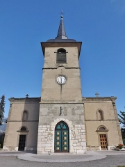 Eglise - English: Sight of the main facade of the église Saint-Jean-Baptiste church of La Motte-Servolex, near Chambéry in Savoie, France.