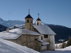 Sanctuaire de Notre-Dame des Vernettes - Français:   Chapelle ND des Vernettes en hiver, Peisey-Nancroix, Savoie.