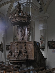Eglise de Conflans - English: Pulpit of the church of Saint-Grat in Conflans (Savoie), France.