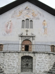 Eglise de Conflans - English: Facade of the church of Saint-Grat in Conflans (Savoie), France.