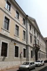 Palais épiscopal - Français:   Annecy, ville et préfecture du département de la Haute-Savoie (région Rhône-Alpes, France). Conservatoire, rue Jean-Jacques Rousseau.