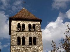 Eglise - Français:   Ce clocher a été érigé à partir du chœur de l\'église Notre Dame dont la nef et l\'abside ont été détruites pendant la Révolution.