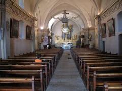 Eglise Saint-Michel - English: Nave of the Saint-Michael church of Chamonix (Haute-Savoie, France).