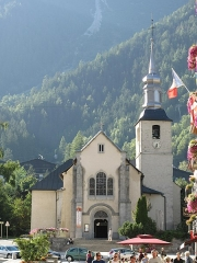 Eglise Saint-Michel - English: Facade of the Saint-Michael church of Chamonix (Haute-Savoie, France).