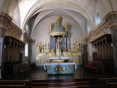 Eglise Saint-Michel - English: Choir of the Saint-Michael church of Chamonix (Haute-Savoie, France).